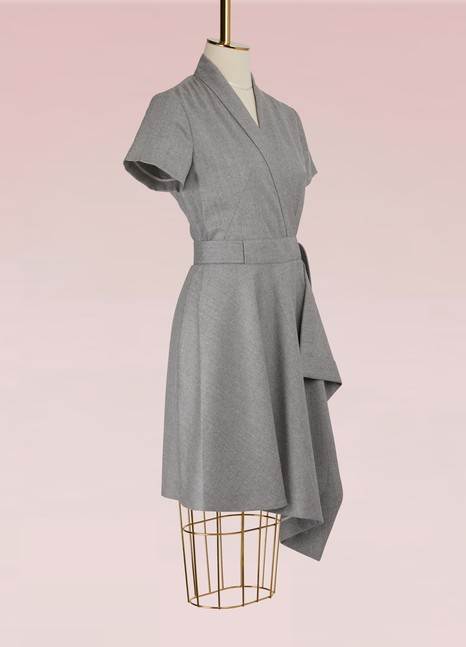 Carven Virgin Wool Kimono Dress