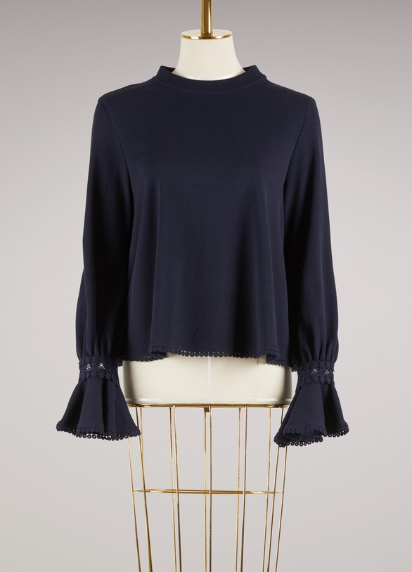 SEE BY CHLOE Top poignets mousquetaires