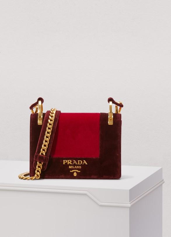 PradaSac porté épaule en velours Patina