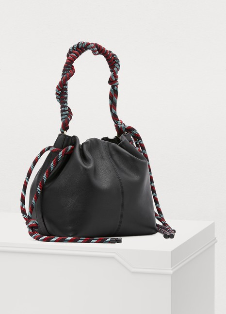 Dries Van Noten Sac porté main à hanse corde