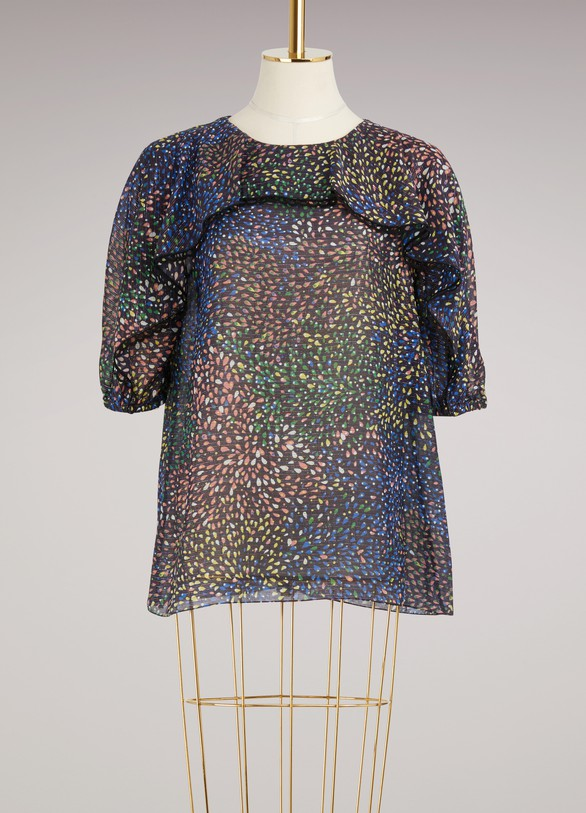 Chloé Fireworks Printed Cotton Top