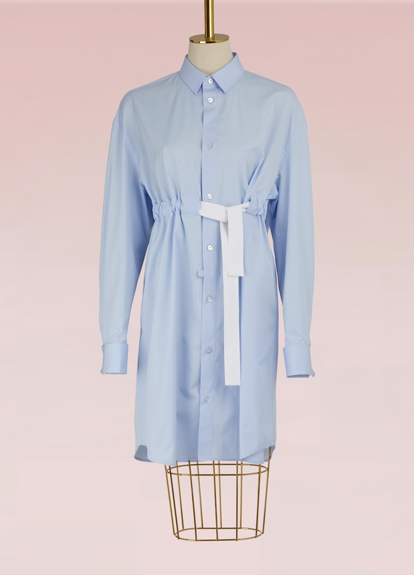 MAISON MARGIELARobe chemise en coton
