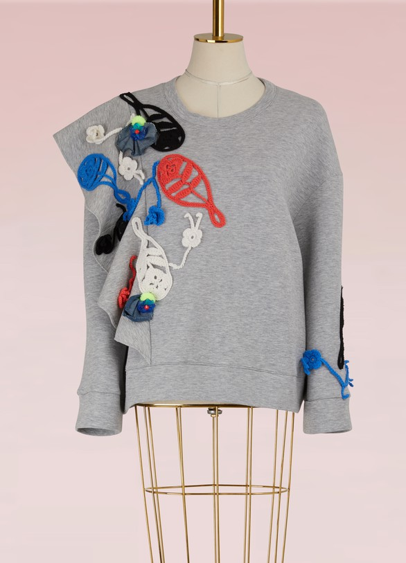 Michaela Buerger Merino wool embroidered sweatshirt
