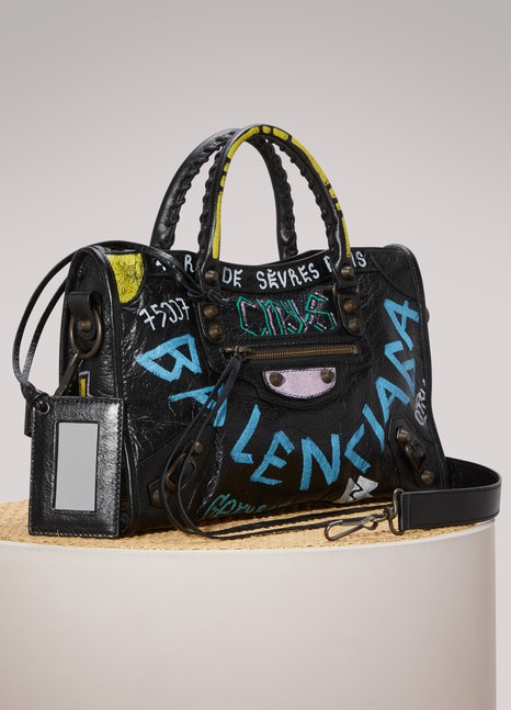 Balenciaga Petit sac à main Graffiti City classsique