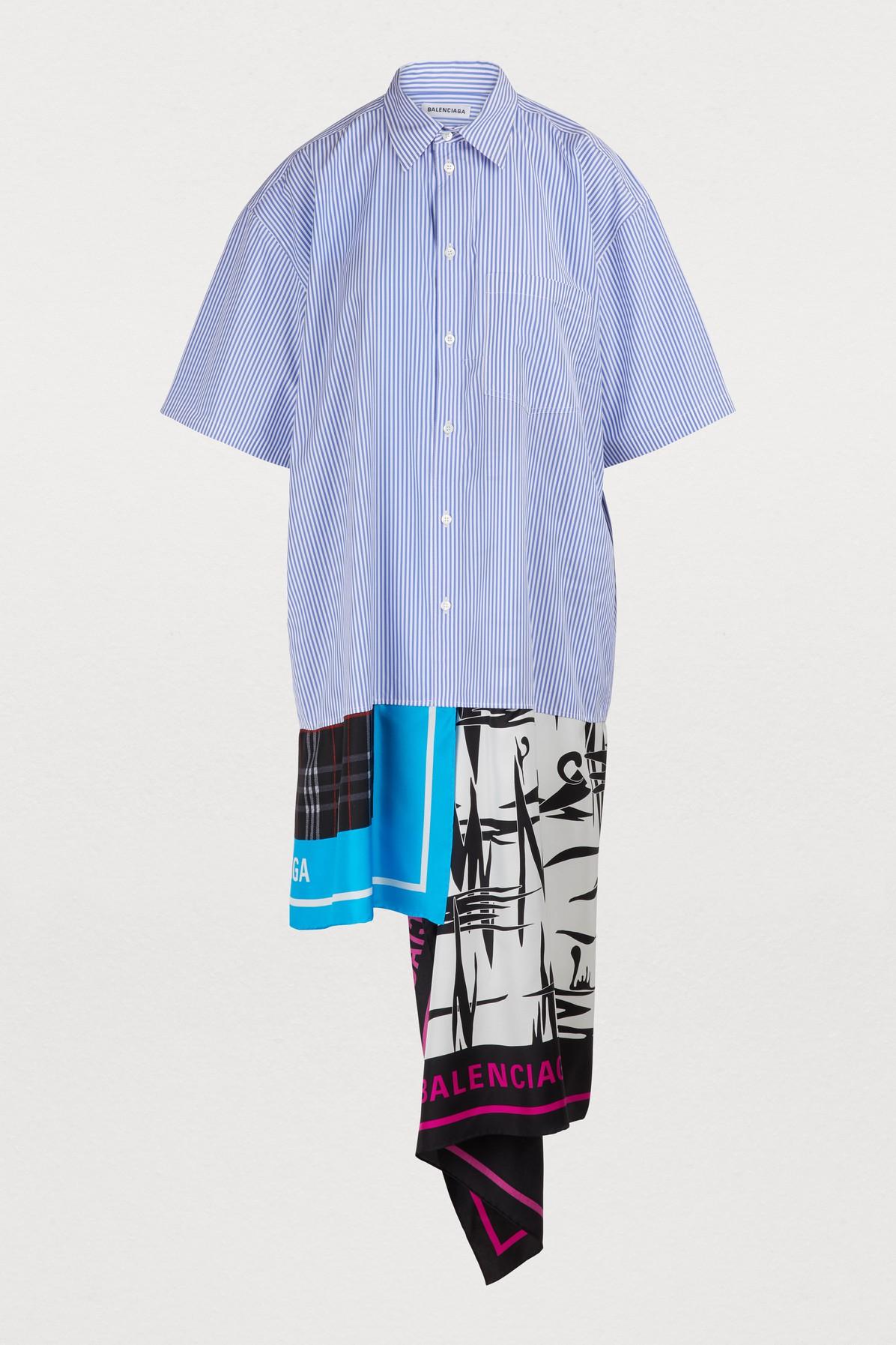Robe-chemise imprimé foulard