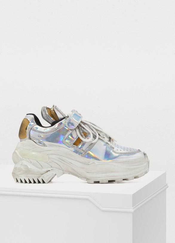 Maison MargielaSilver sneakers