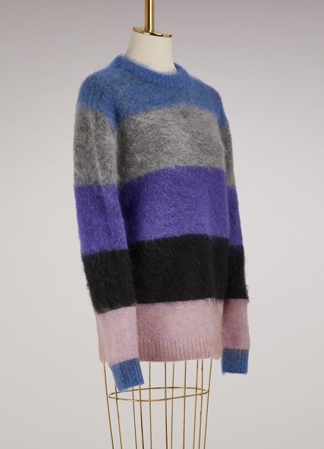 Acne Studios Mohair Albah Striped Sweater
