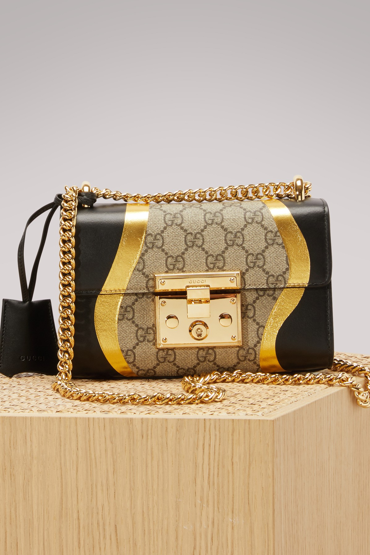 GUCCI | Padlock GG Supreme Canvas And Leather Shoulder Bag | Goxip