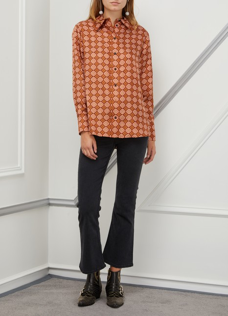 Ines de la Fressange Paris Maureen silk shirt