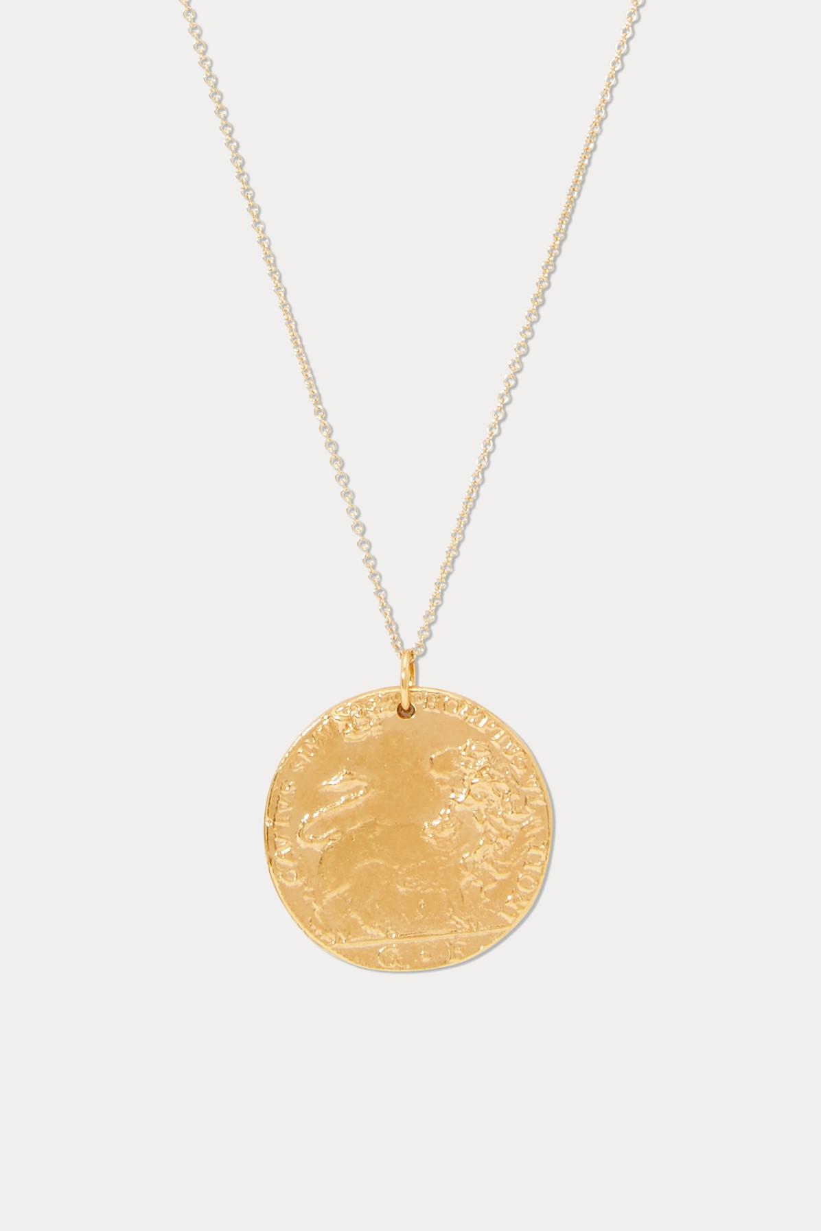 Alighieri Il Leone Medallion Necklace In Gold