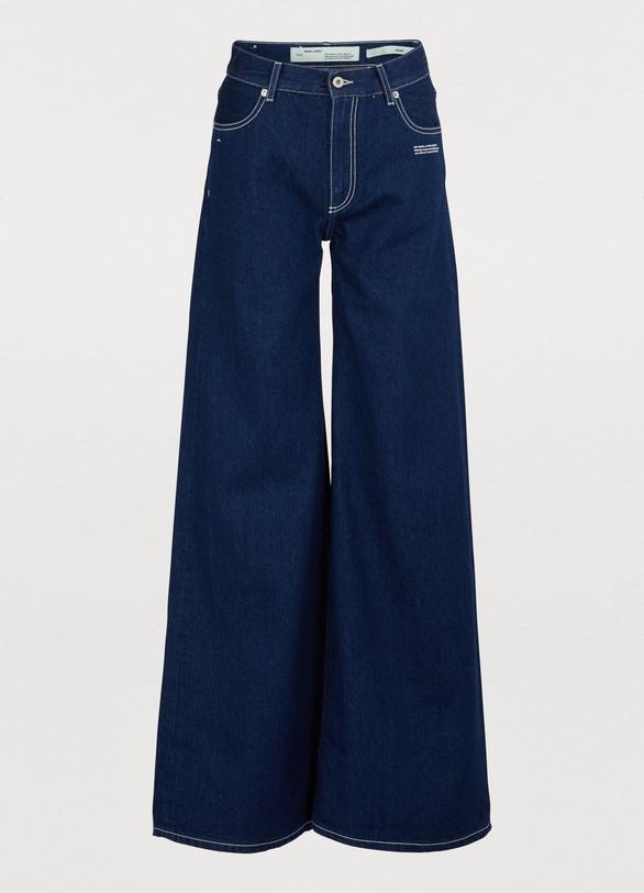 1f7179ed0102 Off White Wide-leg jeans