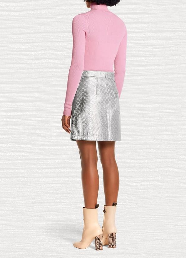 efa9714632 Women's Embossed Monogram Leather Mini Skirt   Louis Vuitton   24S   24S