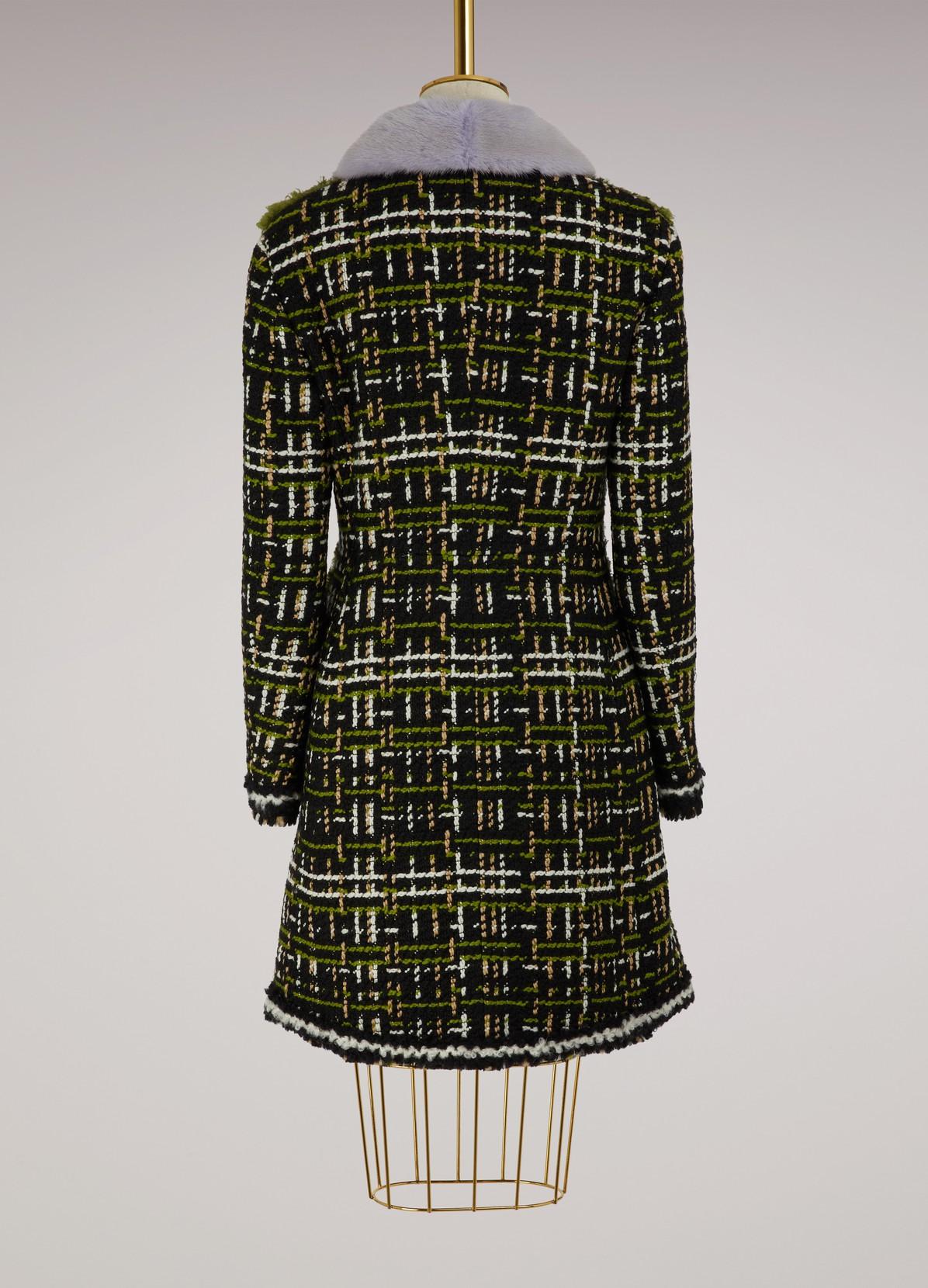 MONCLER GAMME ROUGELeah wool coat