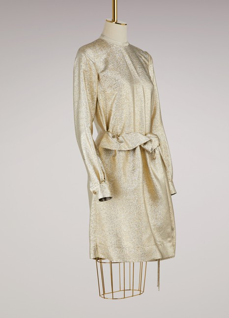 Farrah metallic dress Stella McCartney Exclusive Sale Online Cheap Wholesale Discount Classic Extremely Sale Online Sale Explore pQTsKXFXtv
