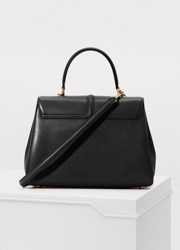 ... Celine 16 medium satiny calfskin leather bag ... 9ae128e6c6e9c