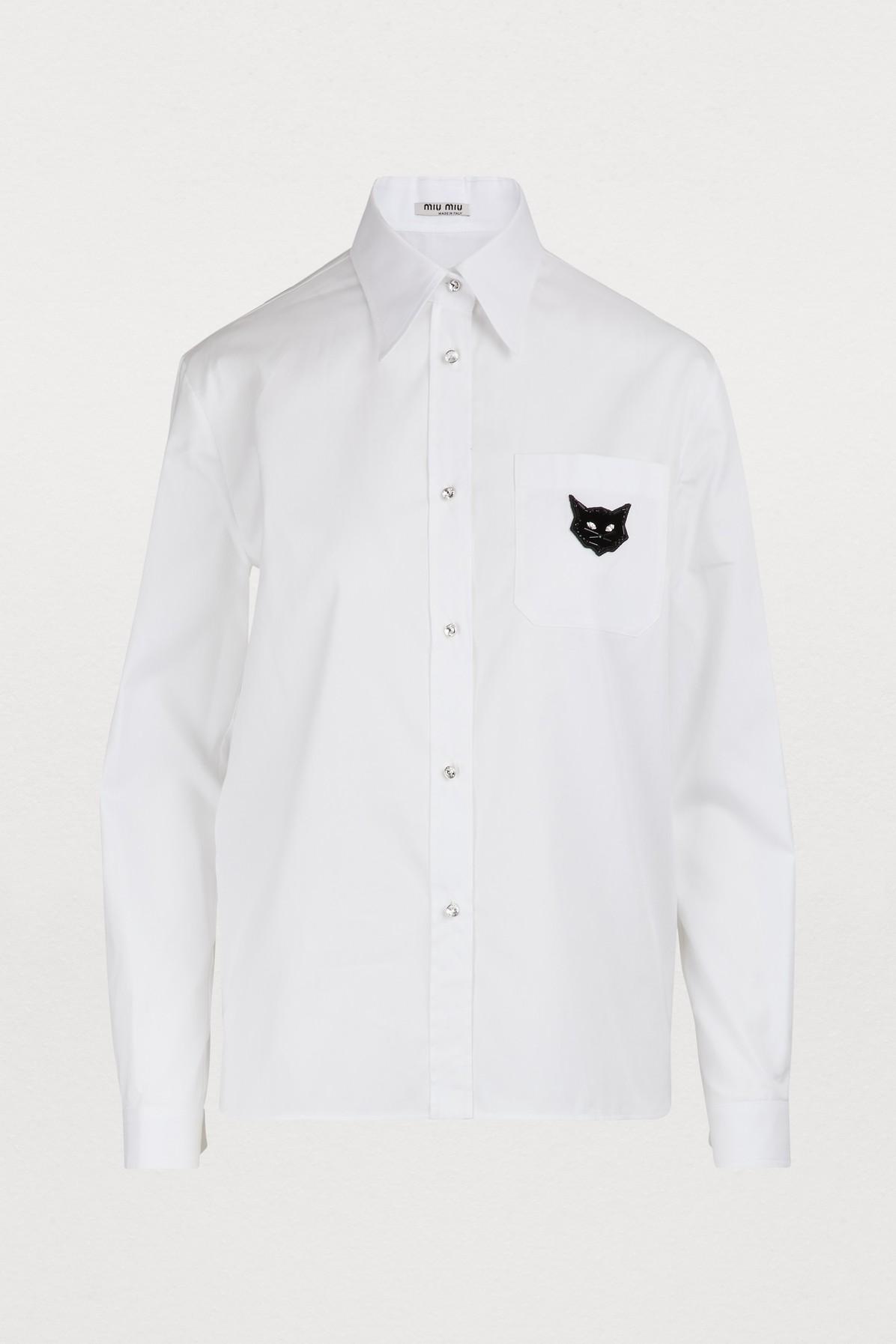 Chemise à patch Cats
