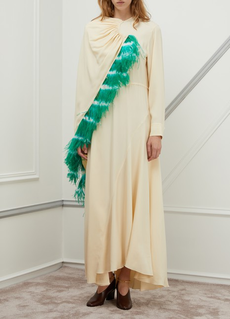 Dries Van Noten Feathers dress