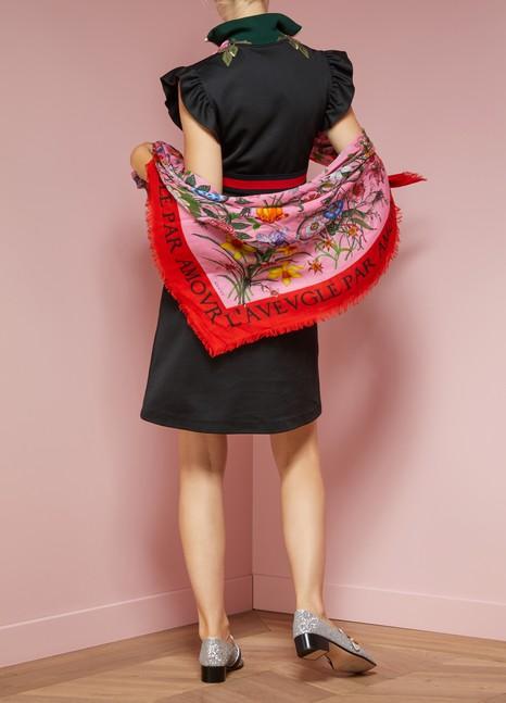 98579d3f7b1 Women s Flora Snake Print Wool Silk Shawl