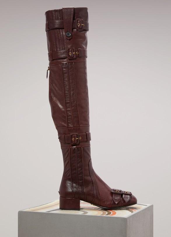 PradaStrapped thigh-high boots R6rDm60A