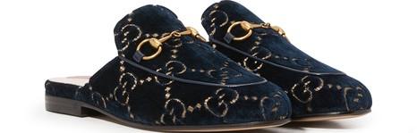 GUCCIPrincetown GG velvet slippers