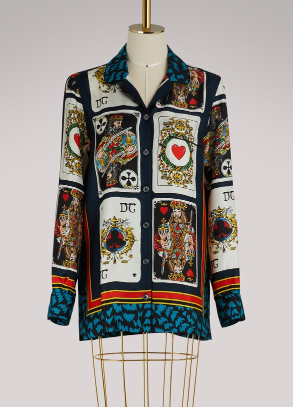 Dolce & Gabbana Cards silk shirt