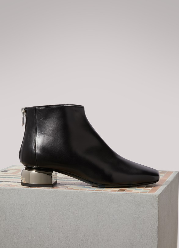 Pierre Hardy Silver ankle boots