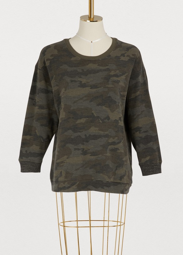 James Perse Cropped camouflage sweatshirt