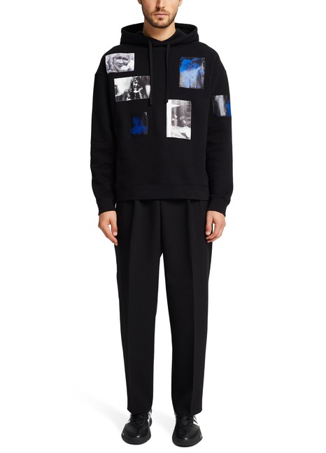 RAF SIMONS Hooded sweatshirt with patches
