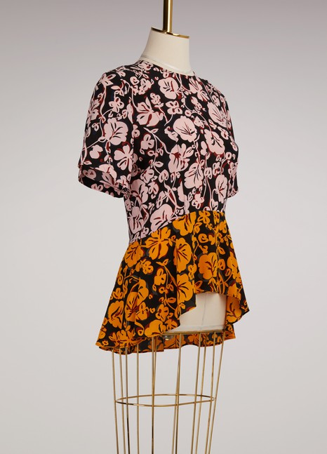 KenzoSilk Short Sleeve Top