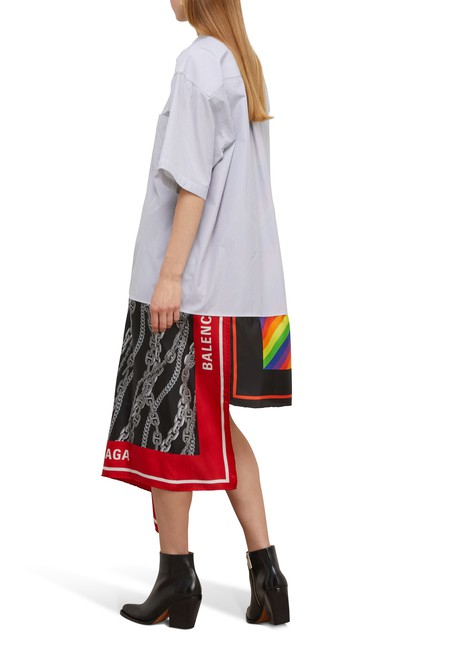 BALENCIAGAScarf shirt dress