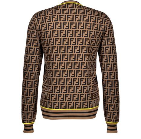 FENDIRound neck multi-logo jumper