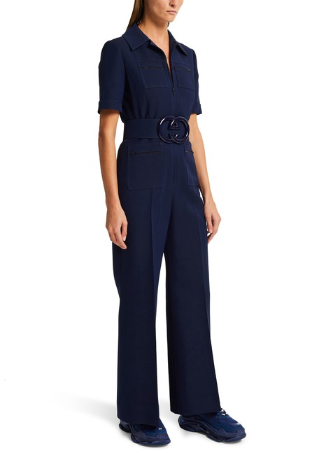 GUCCI Wool and silk jumpsuit