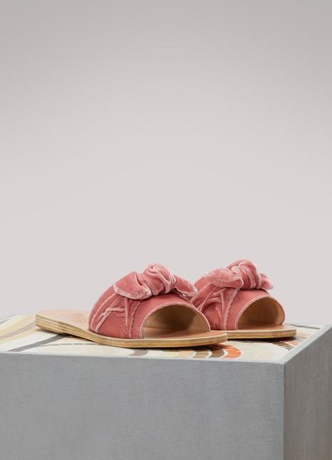 Sandales Taygete Bow en veloursAncient Greek Sandals 2pdwG