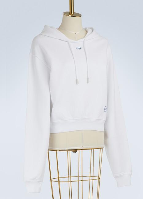 Off WhiteSweat à capuche logo Skyline en coton