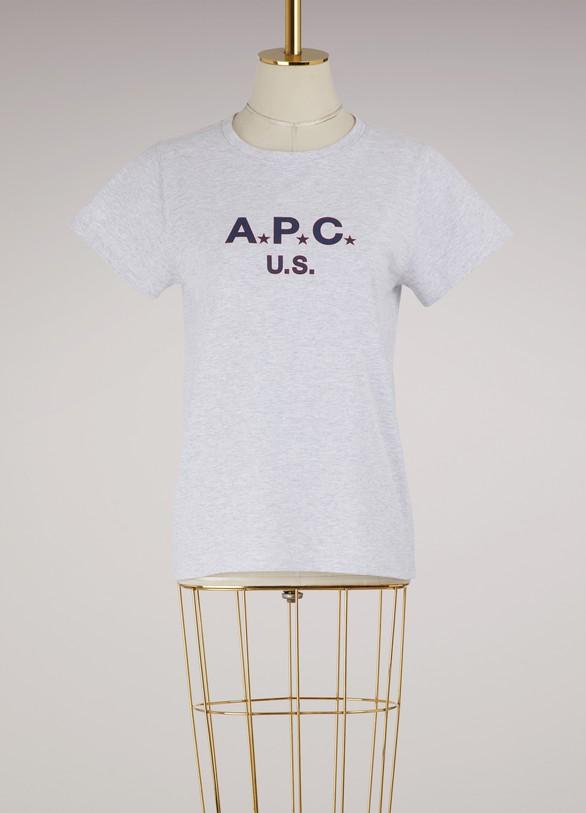 A.P.C.T-shirt U.S. en coton