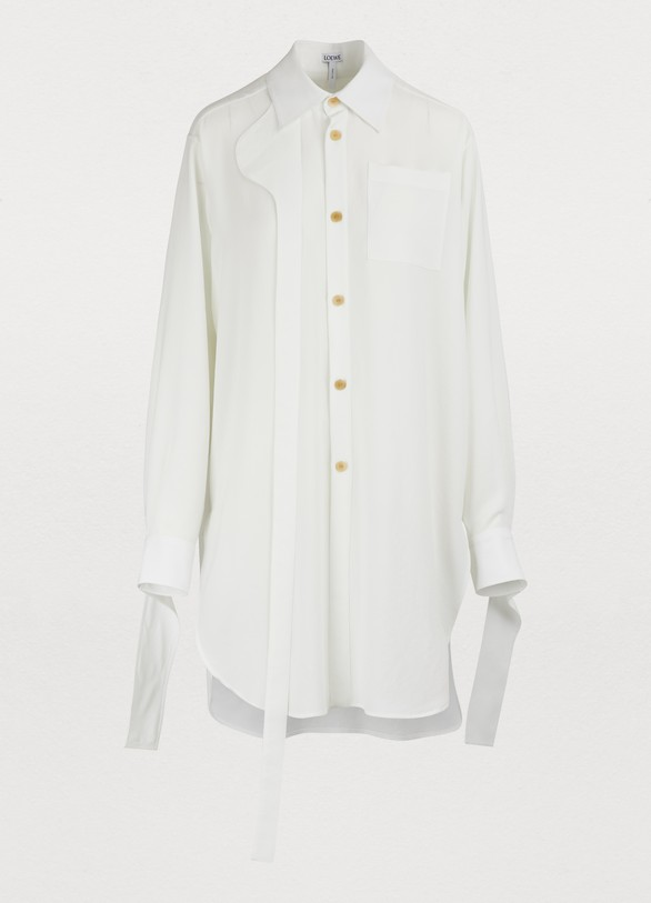 177ce0cb9659 Women's Oversized shirt with leather band | Loewe | 24 Sèvres