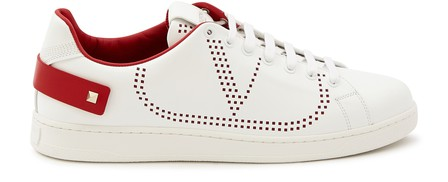 Valentino Garavani Backnet Trainers With Vlogo Motif In Red
