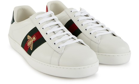 GUCCI New Ace embroidered trainers