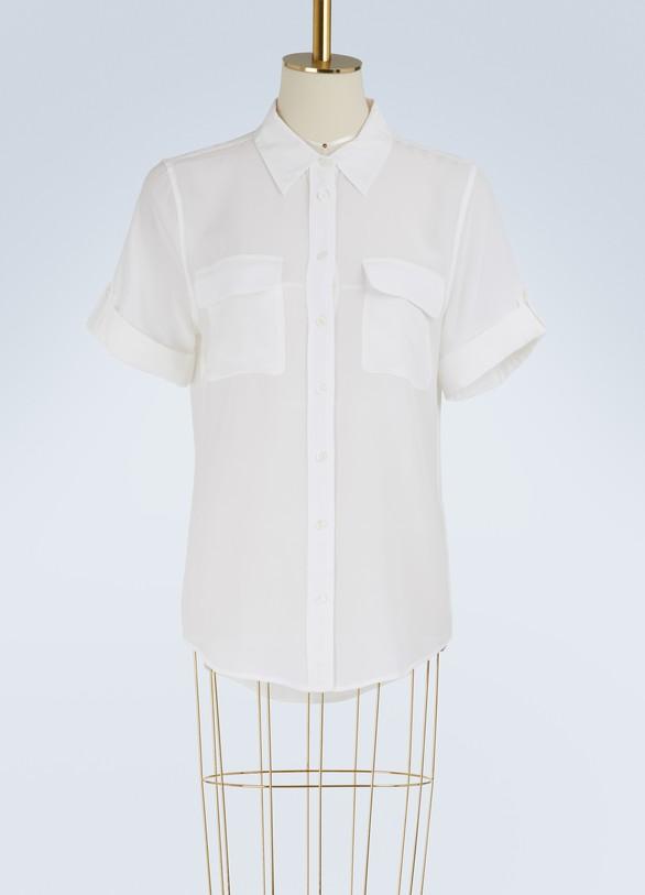 EquipmentSignature short-sleeved slim shirt