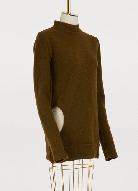 RICK OWENS Wool and yak sweater