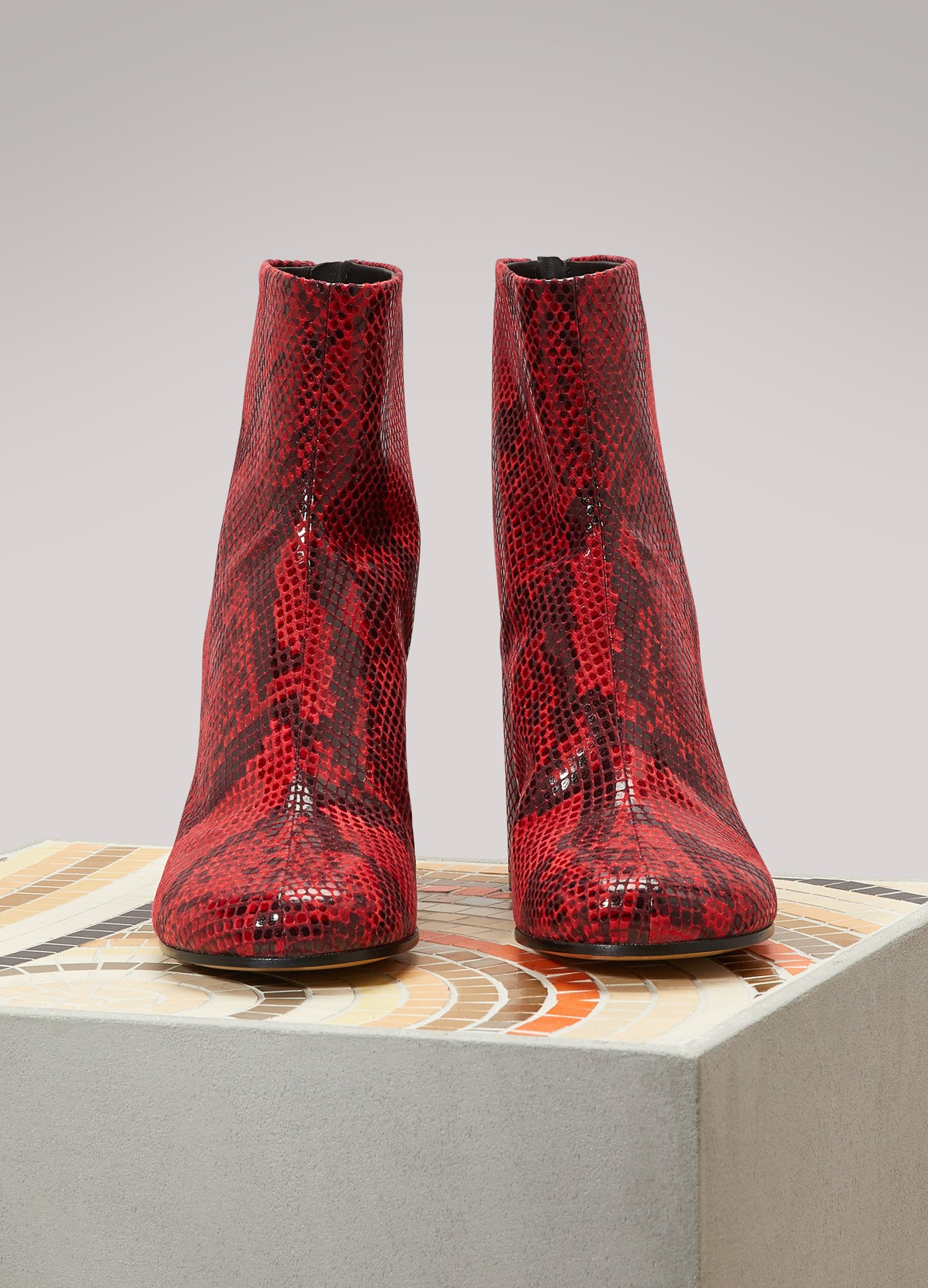 MAISON MARGIELAPython printed ankle boots