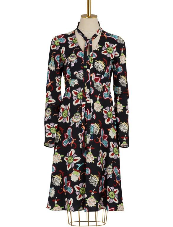VALENTINOFlower Pop long sleeves dress