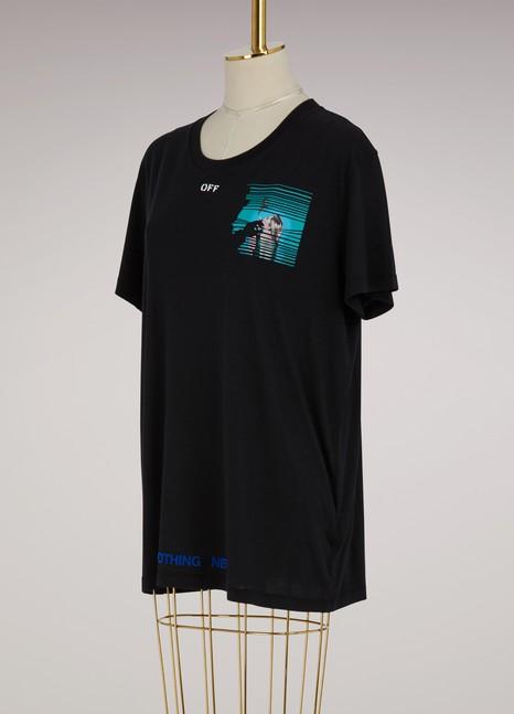 Off WhiteT-shirt oversize Peep