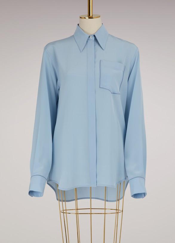 chest pocket shirt - Blue Victoria Beckham Get To Buy Online Discount Real Classic Online Wide Range Of Online Factory Sale KTzV3