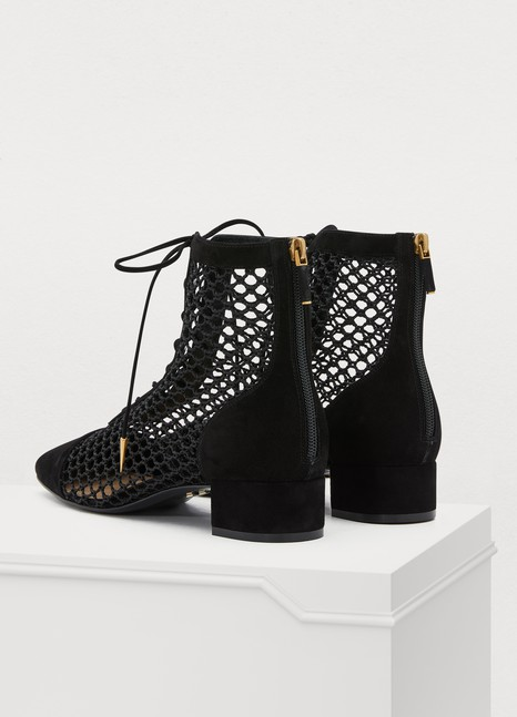 98f291a7fc Naughtily-D fishnet ankle boot