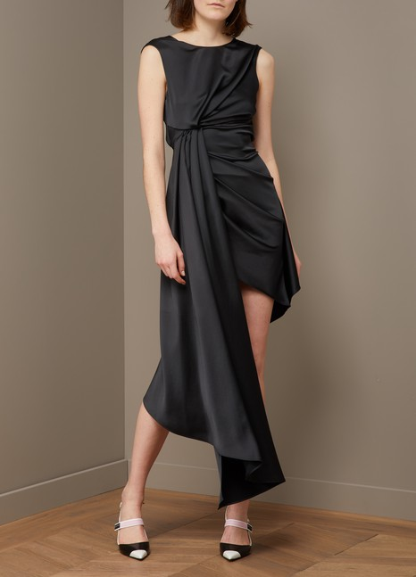 Off WhiteAsymmetric dress