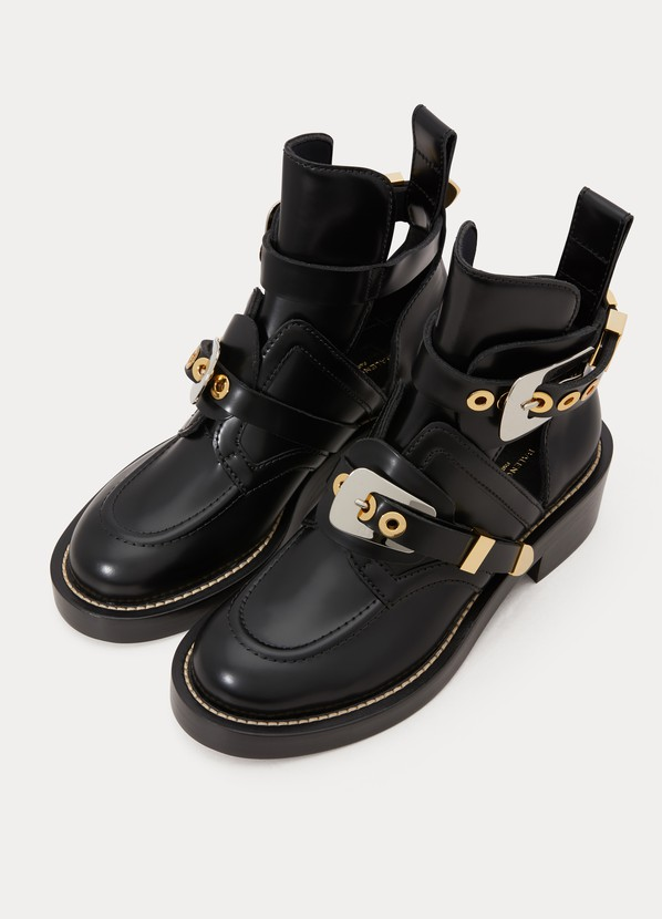 a8a1556b0de73 ... Balenciaga Ceinture flat ankle boots ...