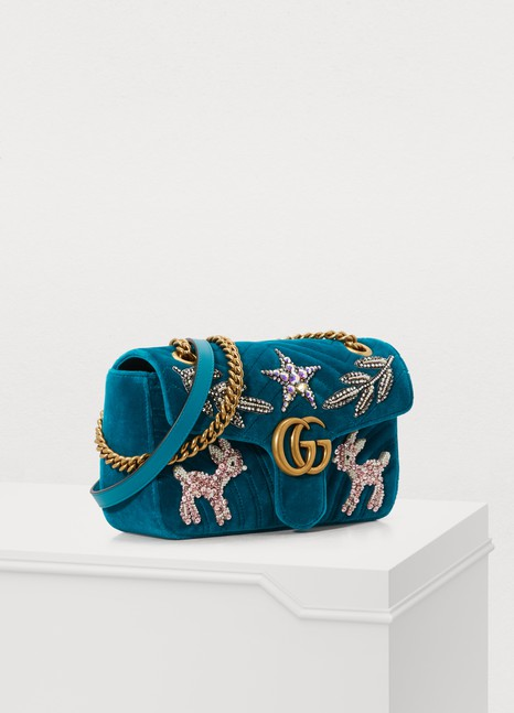 Gucci GG Marmont velvet SM shoulder bag