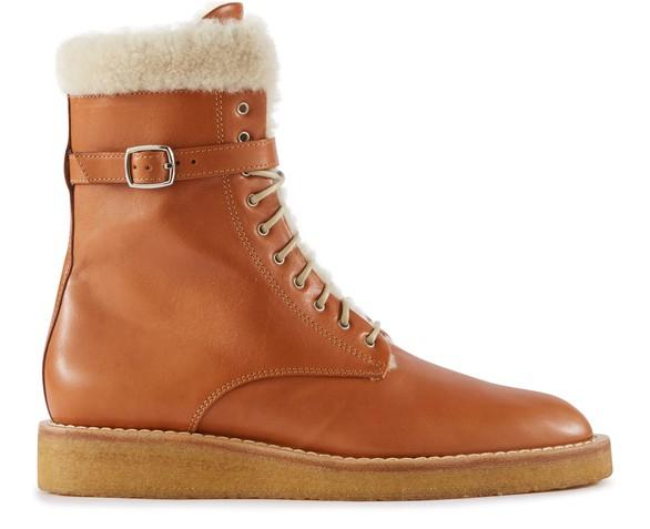 CELINEManon fur ankle boots