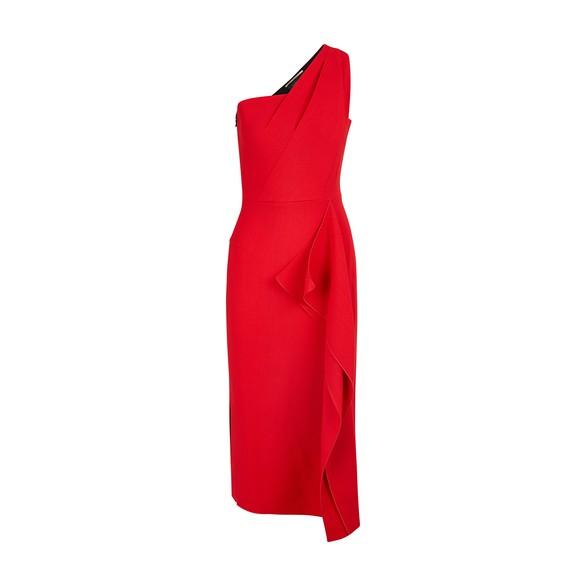 ROLAND MOURETRivoli woollen dress